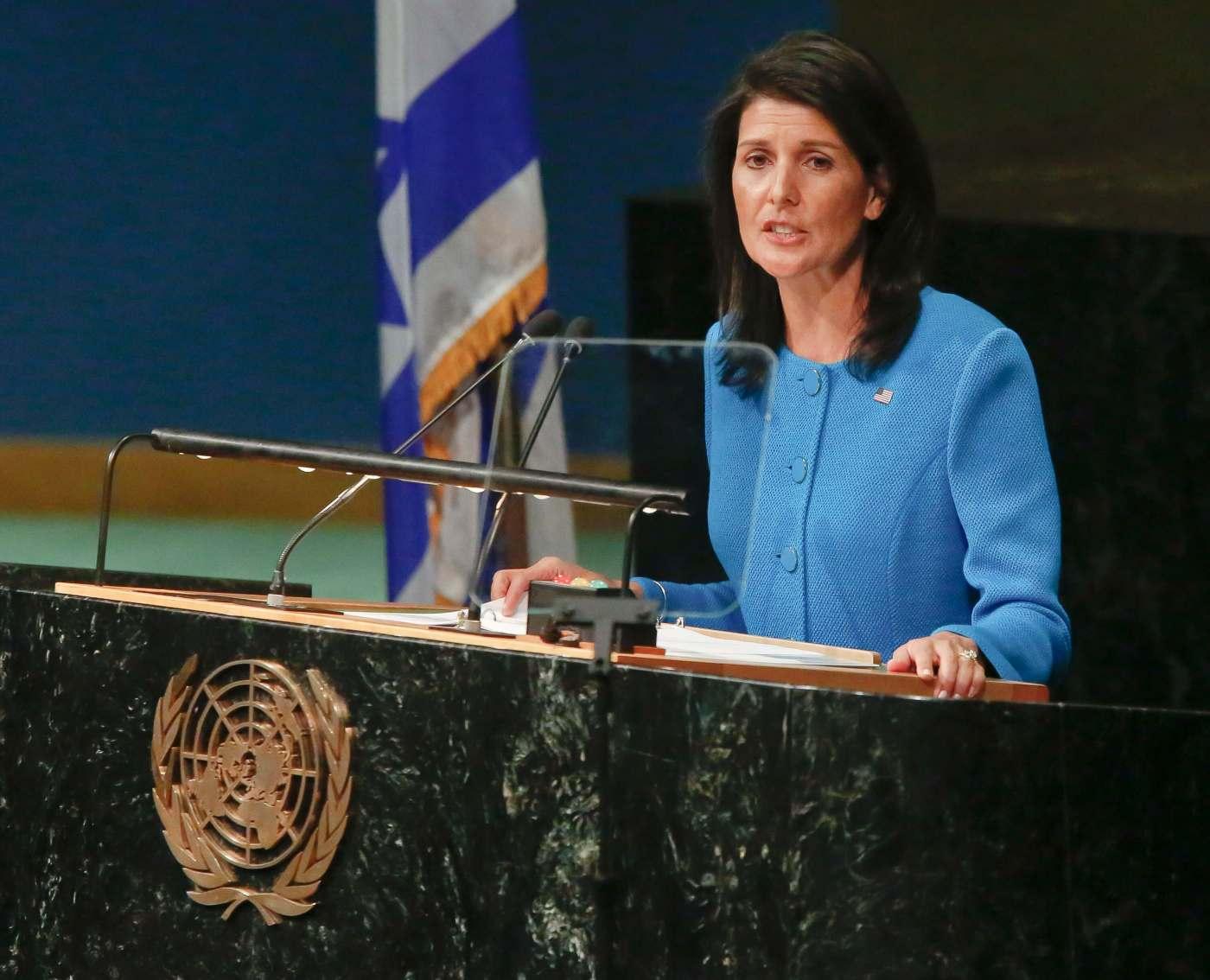 Nikki Haley, embajadora de Estados Unidos en Naciones Unidas.