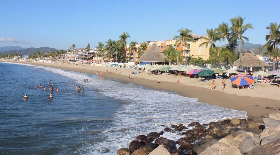 Ocupación en playas de Colima llega este fin de semana al 80 por ciento. (Twitter @gobiernocolima)