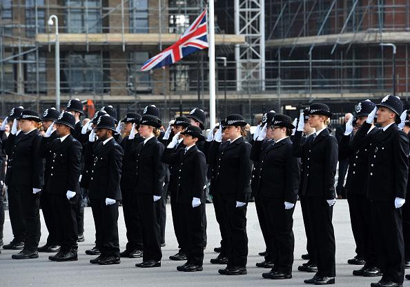 Policías se reúnen en Londres para honrar a Keith Palmer (Getty Images)