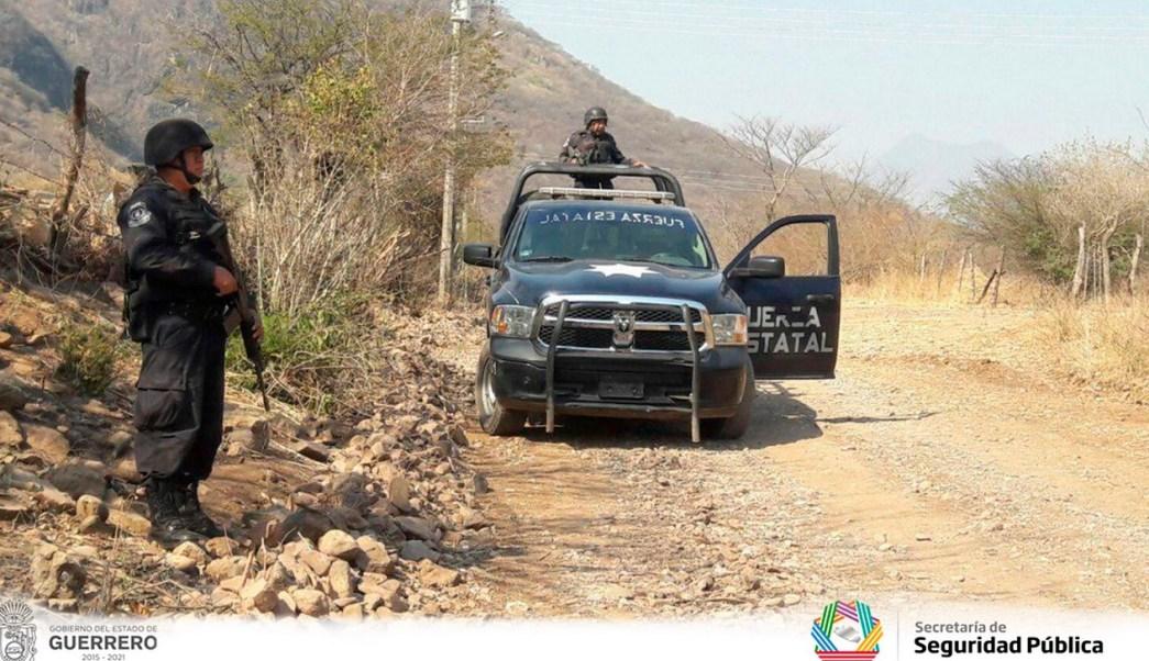 Operativo de seguridad en San Miguel Totolapan. (Twitter @SSPGro, archivo)