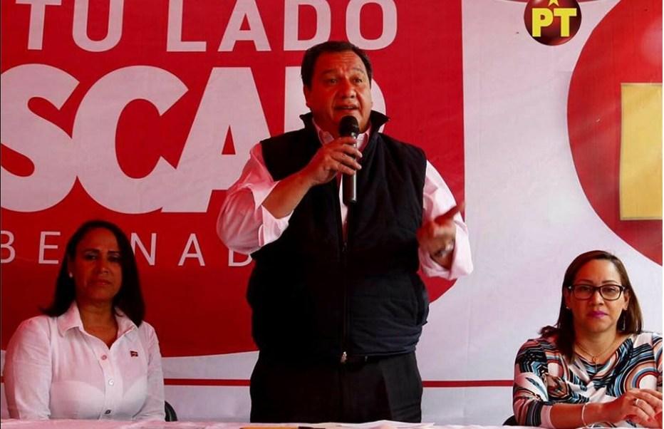 Oscar González Yáñez, candidato del PT a la Gubernatura del Edomex, visitó Ecatepec. (Facebook-Oscar González Yáñez)