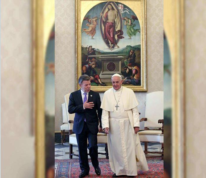 De acuerdo con la revista Time, el presidente de Colombia, Juan Manuel Santos, y el papa Francisco figuran entre los cien más influyentes del mundo. (AP)