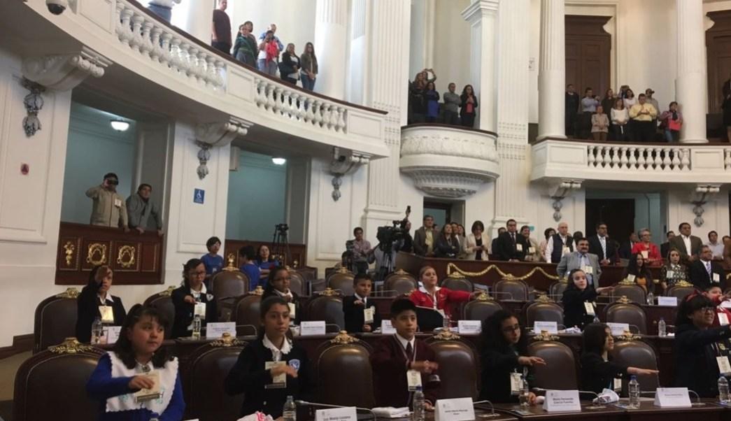 Se realizó el décimo Parlamento Infantil. (Twitter: @leonel_luna)
