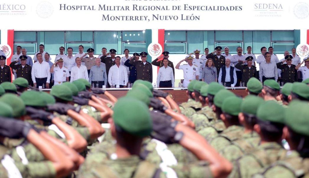 Inauguró el Hospital Militar Regional de Especialidades en Monterrey, que tuvo una inversión de 512 millones de pesos y cuenta con 32 especialidades (Twitter/@PresidenciaMX)