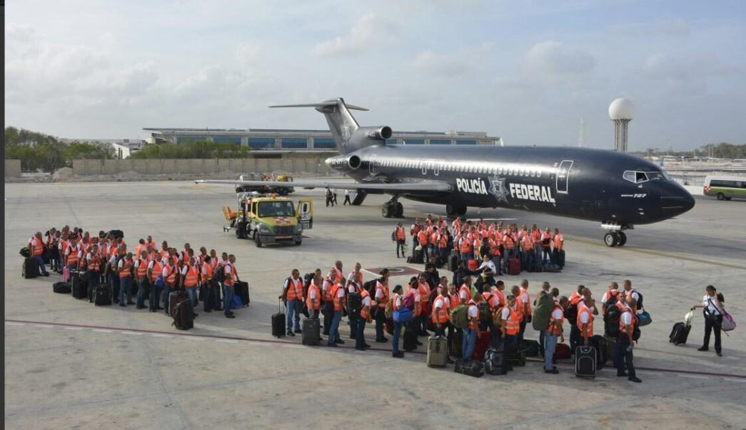 PF despliega dispositivo de seguridad en Cancún. (Twitter @PoliciaFedMx, archivo)