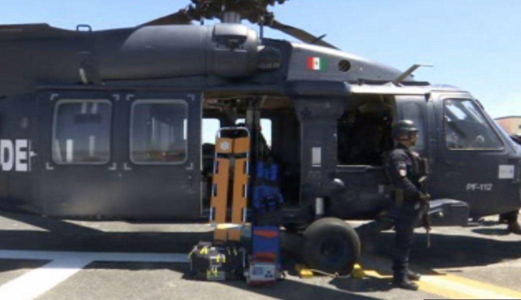 Un helicóptero ambulancia de la Policía Federal se suma a las labores de vigilancia en el estado de Chihuahua. (Noticieros Televisa)