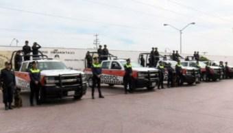 Policías del municipio de Escobedo, Nuevo León (Noticieros Televisa)