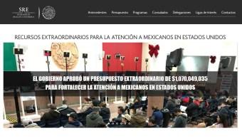 Portal de transparencia de la SRE. (transparenciaproteccion.sre.gob.mx)