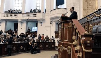 El procurador General de Justicia de la Ciudad de México, Rodolfo Ríos Garza, compareció ante diputados de la Asamblea Legislativa de la Ciudad de México. (@PGJDF_CDMX)