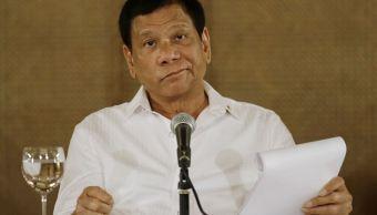 El presidente filipino, Rodrigo Duterte. (AP, archivo)