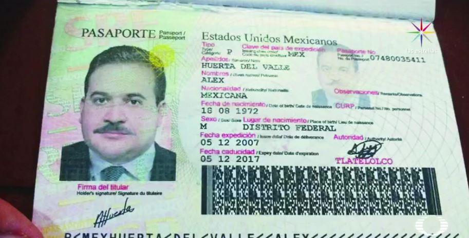 Ruta de escape de Javier Duarte. Pasaporte falso que sirvió como pista para su captura. (Noticieros Televisa)