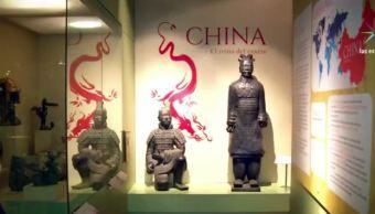 Sala de China en exposición en el Museo de las Culturas, CDMX. (Noticieros Televisa)