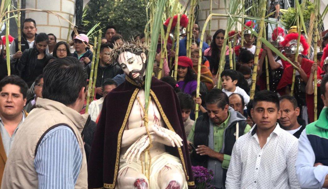La jornada de este Jueves Santo transcurrió sin incidentes. (Twitter: @CuajiDesSocial)