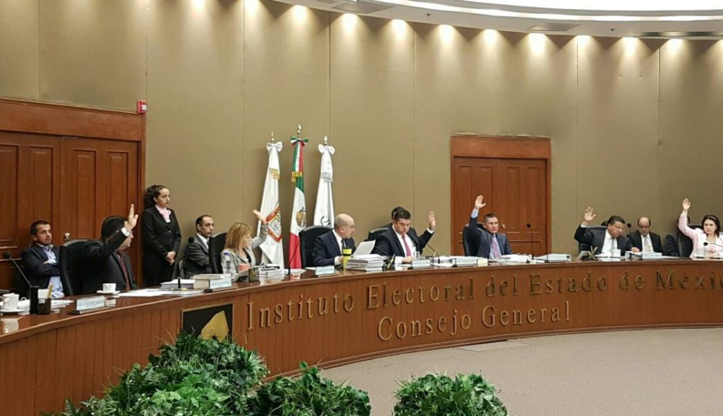 Sesión del Instituto Electoral del Estado de México (Twitter @IEEM_MX, archivo)