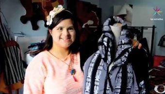 Isabella, diseñadora con Síndrome de Down, reconocida mundialmente. (Noticieros Televisa)