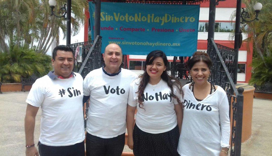 #SinVotoNoHayDinero busca ahorrar dos mil 200 millones de pesos en un año. (Twitter: @pkumamoto)