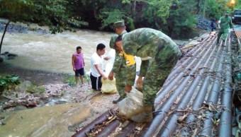 Daños por lluvias en Tabasco. (Twitter@andresreportero)