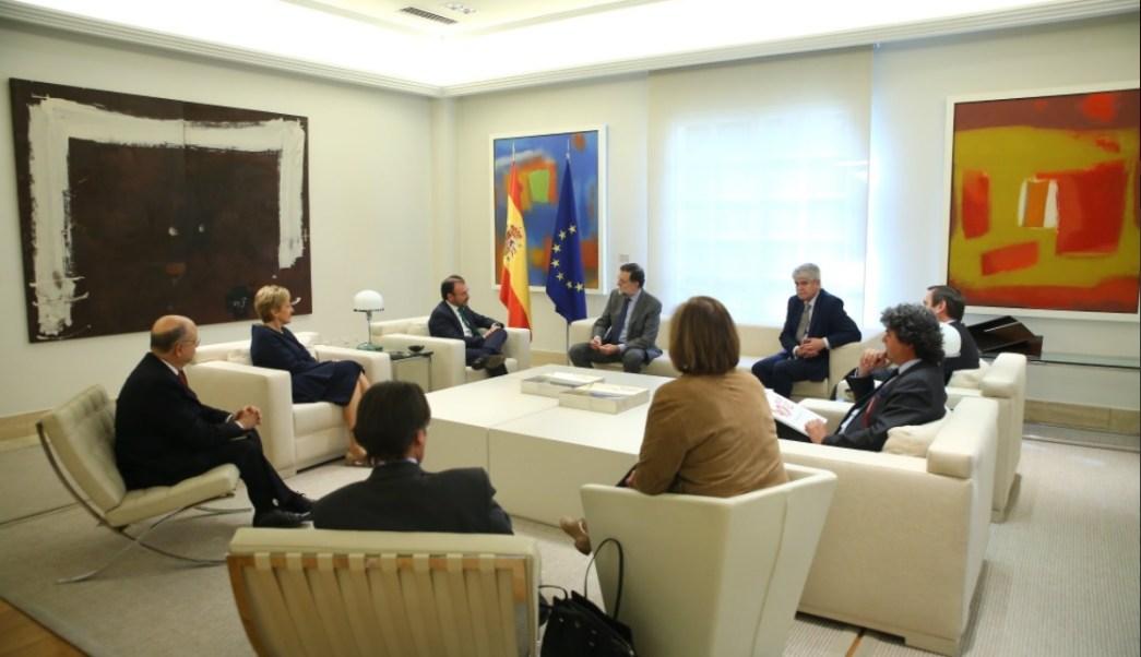 Luis Videgaray, secretario de Relaciones Exteriores, y Mariano Rajoy, presidente del Gobierno español, sostienen reunión (Twitter @marianorajoy)