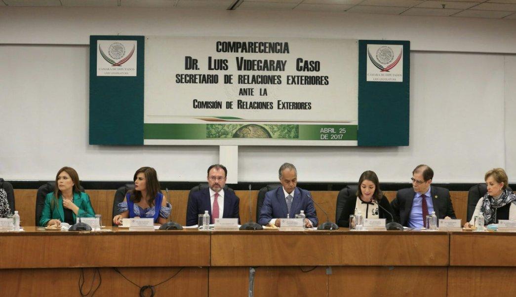 Luis Videgaray comparece ante la Comisión de Relaciones Exteriores de la Cámara de Diputados. (Twitter/ @CanalCongreso)