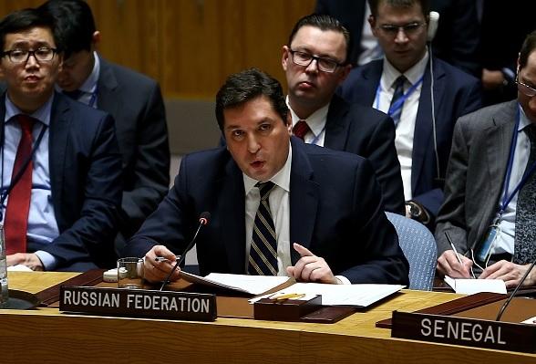 Vladimir Safronkov, representante de Rusia ante Naciones Unidas.