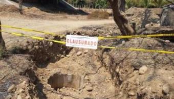 Clausuran construcción ilegal de pozo radial en Zihuatanejo, Guerrero. (Profepa)