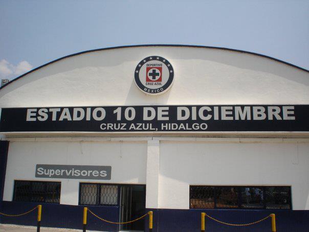 Estadio, 10 de diciembre, Cruz Azul, Ciudad Cooperativa, Hidalgo