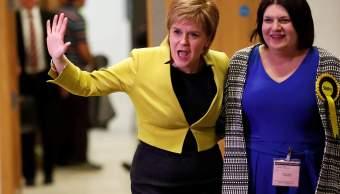 La primer ministro de Escocia Nicola Sturgeon. (Reuters)