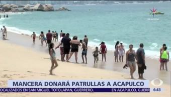 Acapulco, donación, Miguel Ángel Mancera, patrullas