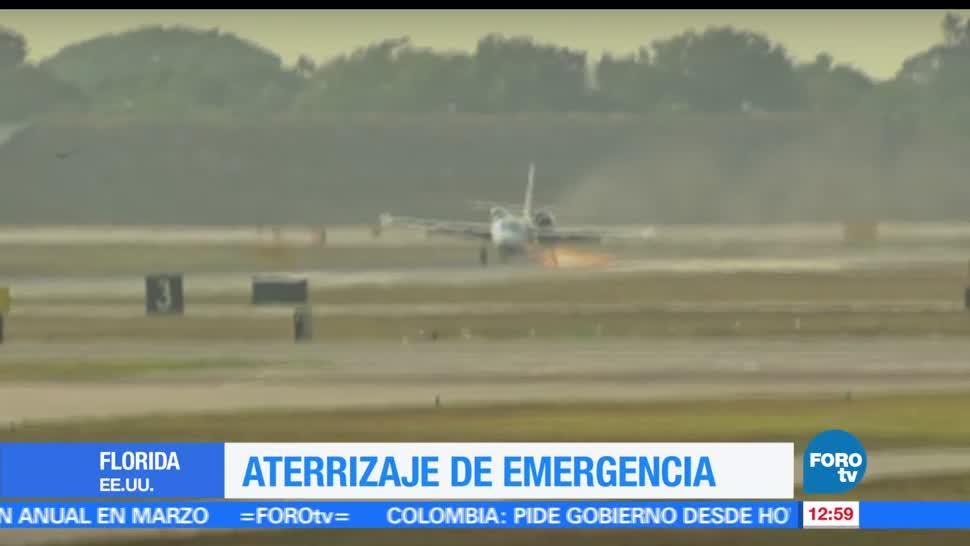 Avión, aterrizaje de emergencia, Florida, Estados Unidos