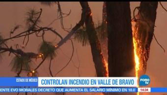 Controlan incendio, Incendios forestales, Estado de México, Valle de Bravo