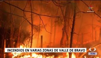 incendio, Incendios forestales, Estado de México, Valle de Bravo