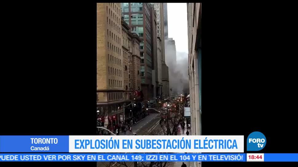 La explosión de una subestación eléctrica, Toronto, canada, incendio, trabajadores, bomberos