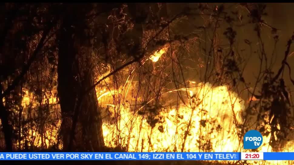 Noticias, Televisa news, Incendio forestal, Valle de Bravo, devasta, 8 hectareas