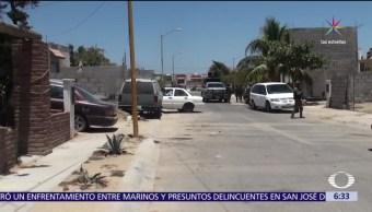 enfrentamiento, presuntos delincuentes, policías, San José del cabo