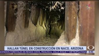 túnel en construcción, Naco,, túnel fronterizo, Sonora,