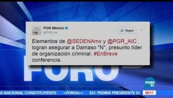 PGR. detención de Dámaso López, El Licenciado, Sinaloa