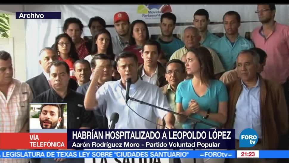 noticias, hora 21, Leopoldo Lopez, aislado, Hospital Militar, Caracas