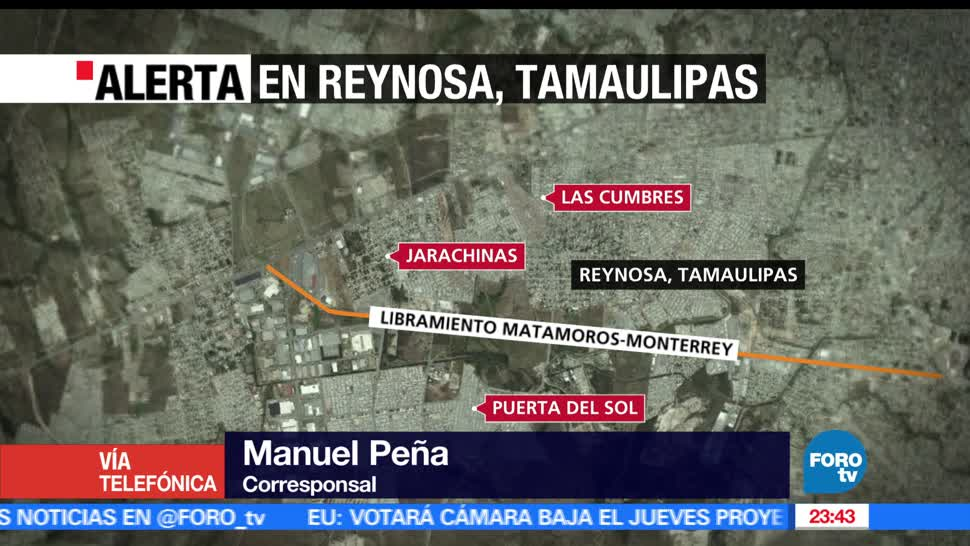 noticias, televisa news, Suspenden clases, Reynosa, Tamaulipas, enfrentamientos