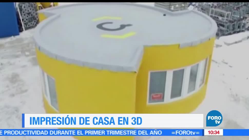Estados Unidos, robot gigante, imprimir en 3D, edificio