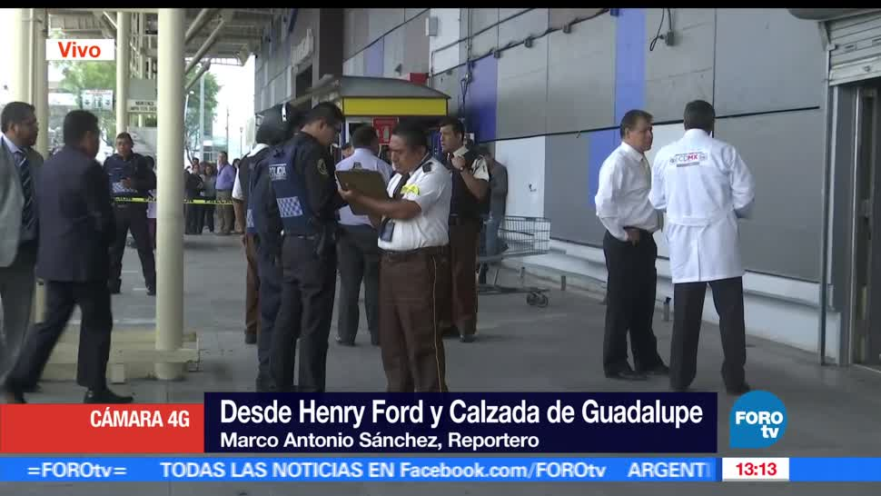 Ladrones, camioneta de valores, plaza comercial, Gustavo A Madero