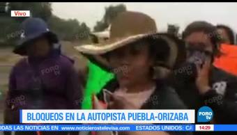 noticias, forotv, Policias, manifestantes, bloquean, Puebla-Orizaba