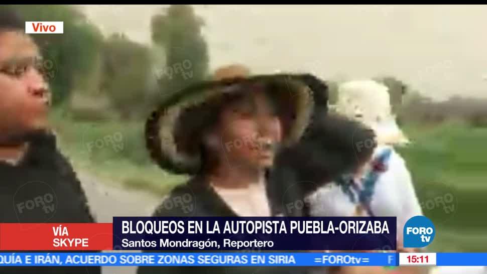 noticias, forotv, Manifestantes, abren parcialmente, Puebla-Orizaba, Quecholac