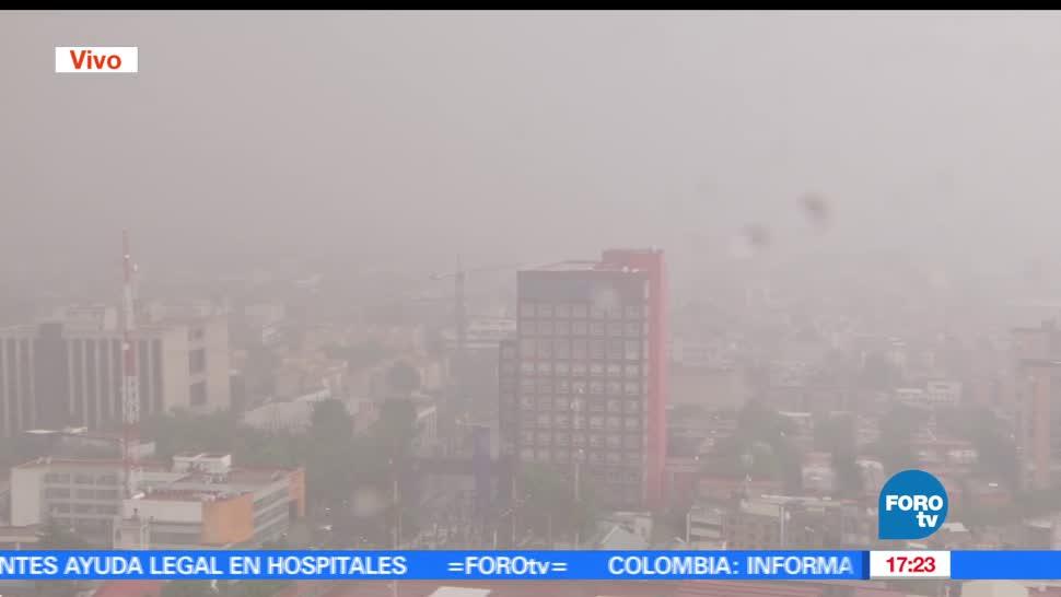 noticias, forotv, registra, lluvia fuerte, Ciudad de Mexico, lluvias