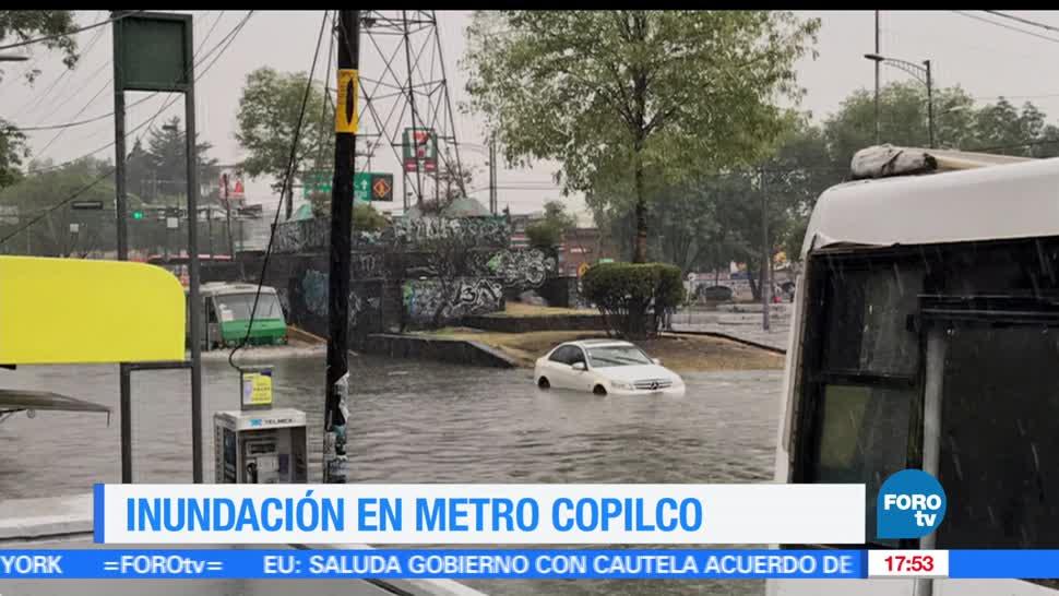 noticias, forotv, Se reportan inundaciones la zona sur de la Ciudad de México