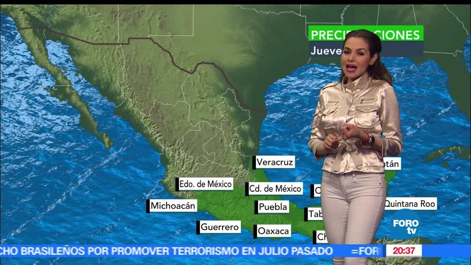 El Clima, condiciones climatológicas, Mayte Carranco, En Una Hora, Lluvias, calor