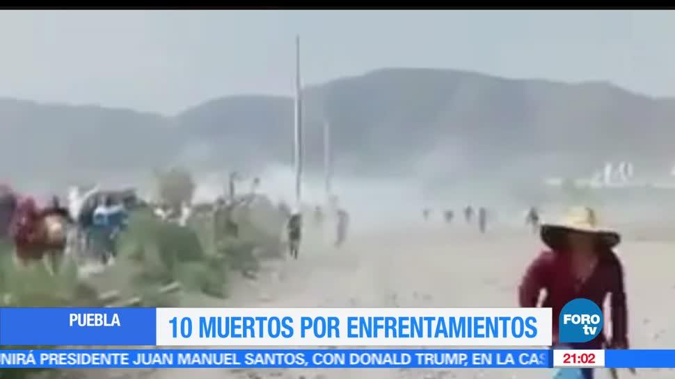 10 muertos, fallecidos, Enfrentamientos, Puebla, Zona Militar, Quecholac