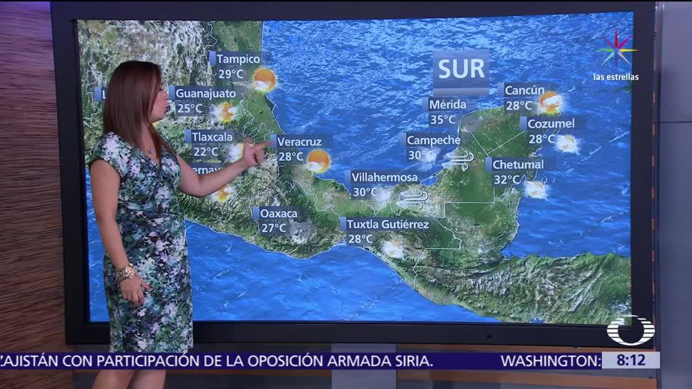 raquel mendez, Clima Al Aire, Pronostican lluvias, moderadas a intensas