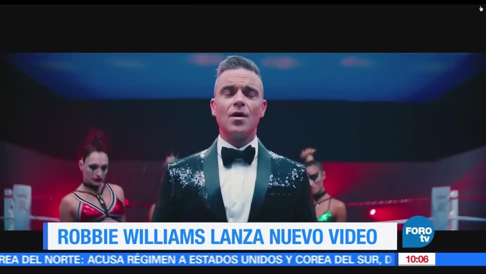 LoEspectaculardeME, Robbie Williams, lanza su nuevo video, El cantante