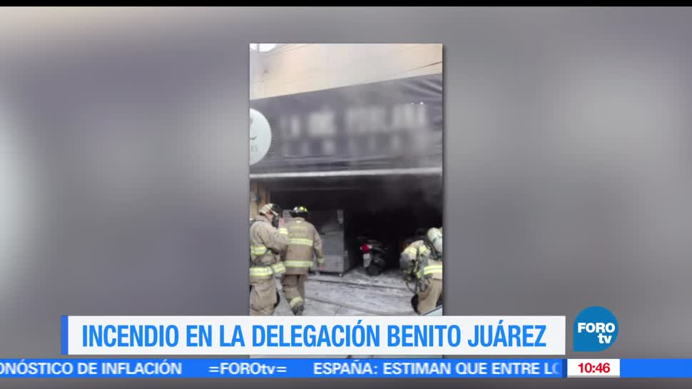incendia, local de comida, Ciudad de México, delegación Benito Juárez