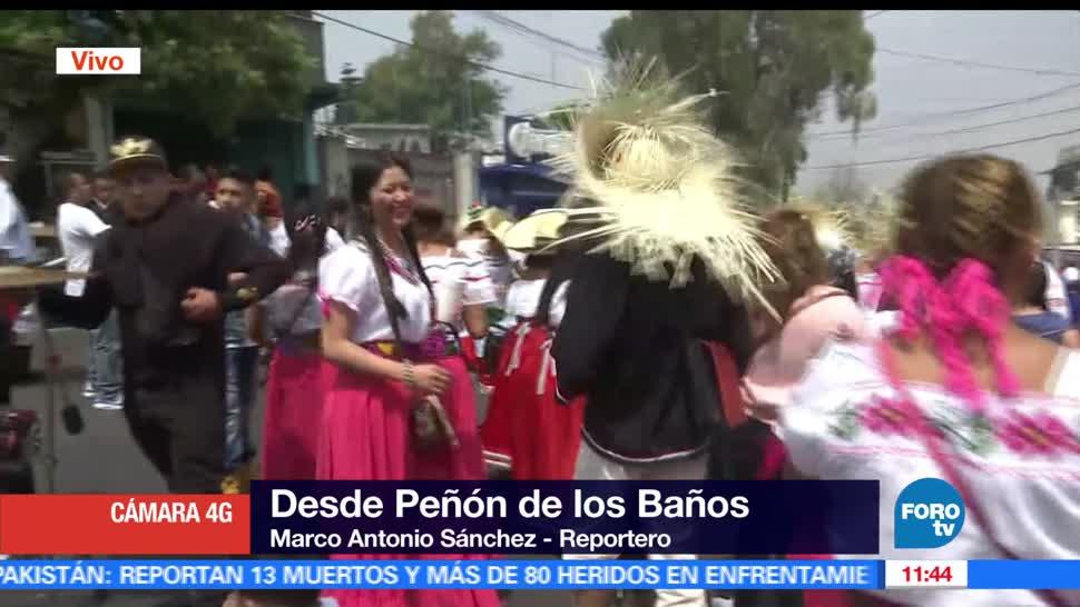 Representan la batalla de Puebla, Peñón de los Baños, CDMX, Desde 1930